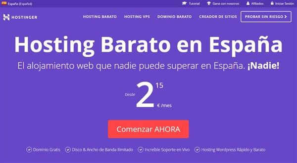 hosting wordpress barato