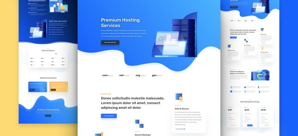 wordpress themes empresa de hosting