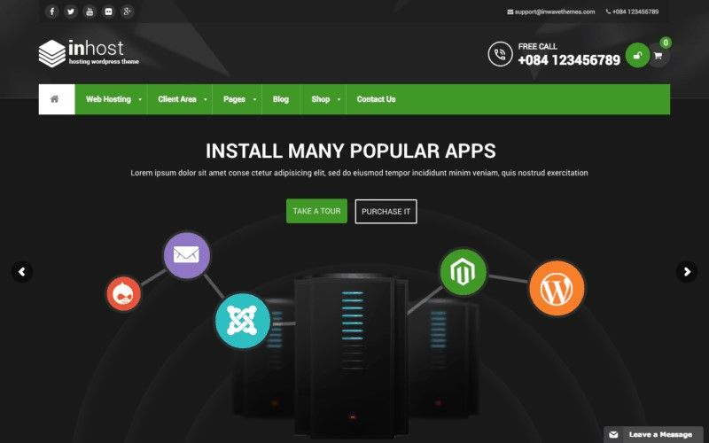 temas wordpress blog hosting
