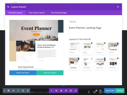 themes wordpress planificador de eventos