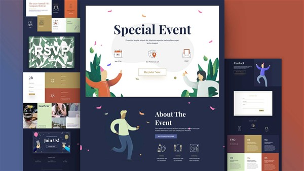 plantillas wordpress eventos. ceremonias y celebraciones