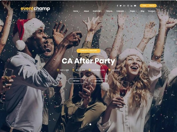 fiestas wordpress themes
